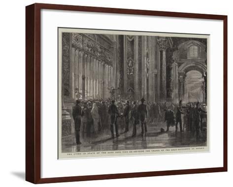 The Lying in State of the Late Pope Pius Ix, Outside the Chapel of the Holy Sacrament, St Peter'S--Framed Art Print