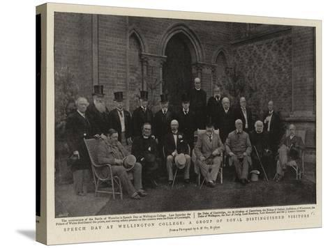 Speech Day at Wellington College, a Group of Royal Distinguished Visitors--Stretched Canvas Print