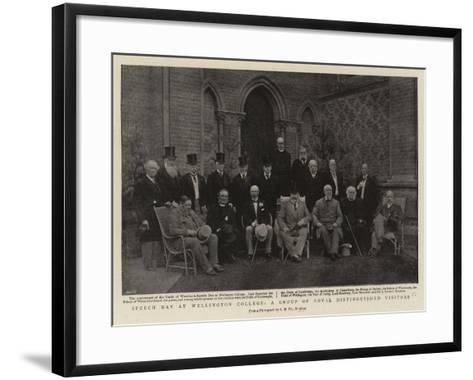 Speech Day at Wellington College, a Group of Royal Distinguished Visitors--Framed Art Print