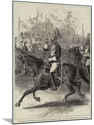 The Prince of Wales Heading the Household Brigade at the Review before the Queen in Windsor Great P--Mounted Giclee Print