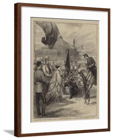 Presentation of New Colours to the 106th Regiment at Parkhurst by Hrh the Imperial Princess of Germ--Framed Art Print