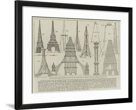 The Proposed Tower for London, Some of the Designs Now on View in the Hall of the Drapers' Company--Framed Art Print