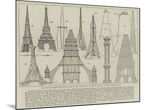 The Proposed Tower for London, Some of the Designs Now on View in the Hall of the Drapers' Company--Mounted Giclee Print