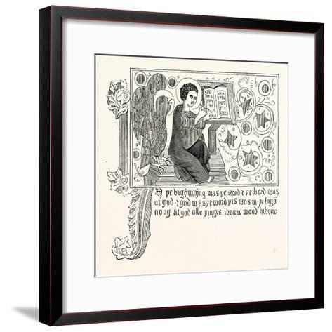 Facsimile of Part of the First Chapter of St. John's Gospel in Wycliffe's Bible--Framed Art Print