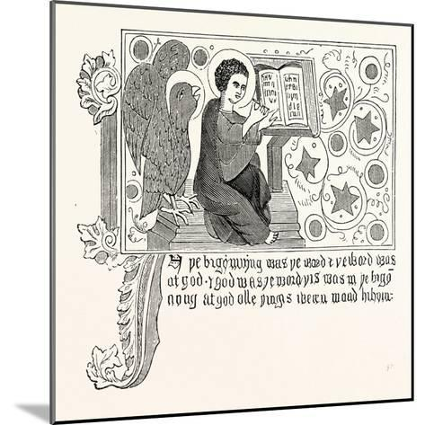 Facsimile of Part of the First Chapter of St. John's Gospel in Wycliffe's Bible--Mounted Giclee Print