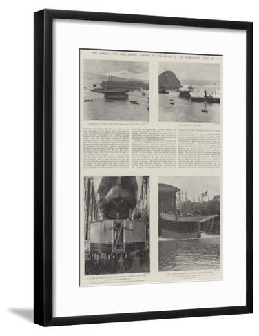 The America Cup Challenger, Launch of Shamrock II at Dumbarton, 20 April--Framed Art Print