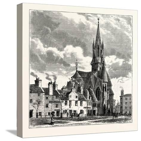 Edinburgh: Wright's Houses and the Barclay Church from Bruntsfield Links--Stretched Canvas Print