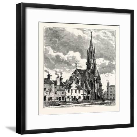 Edinburgh: Wright's Houses and the Barclay Church from Bruntsfield Links--Framed Art Print