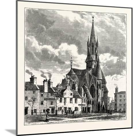 Edinburgh: Wright's Houses and the Barclay Church from Bruntsfield Links--Mounted Giclee Print