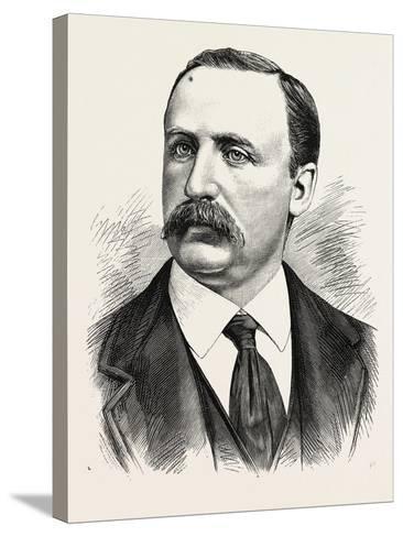 Henry J. Jackson, Superintendent of the Bureau of Emigration, Castle Garden. U.S., 1880 1881--Stretched Canvas Print