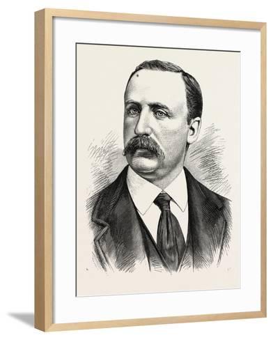 Henry J. Jackson, Superintendent of the Bureau of Emigration, Castle Garden. U.S., 1880 1881--Framed Art Print