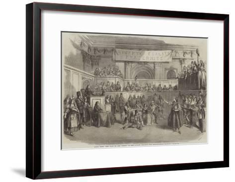 Scene from The Tale of Two Cities, at the Lyceum Theatre, the Revolutionary Tribunal--Framed Art Print