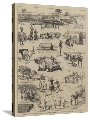 The Indian Famine, Sketches in the Affected Districts, by a Member of the Famine Relief Staff--Stretched Canvas Print