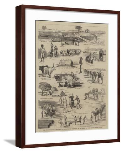 The Indian Famine, Sketches in the Affected Districts, by a Member of the Famine Relief Staff--Framed Art Print