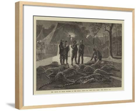 The Prince of Wales Hunting in the Nepaul Terai, the First Day's Sport, the Prince's Bag--Framed Art Print