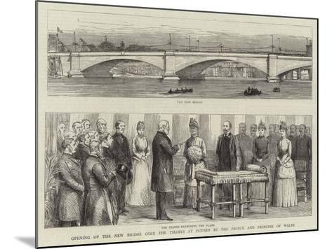 Opening of the New Bridge over the Thames at Putney by the Prince and Princess of Wales--Mounted Giclee Print