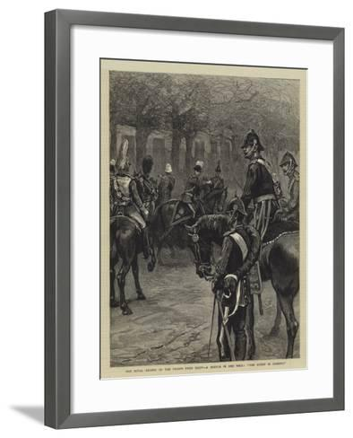 The Royal Review of the Troops from Egypt, a Sketch in the Mall, The Queen Is Coming!--Framed Art Print