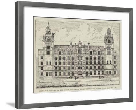 Intended Building of the Royal College of Music, Kensington (First Stone Laid 8 July)--Framed Art Print