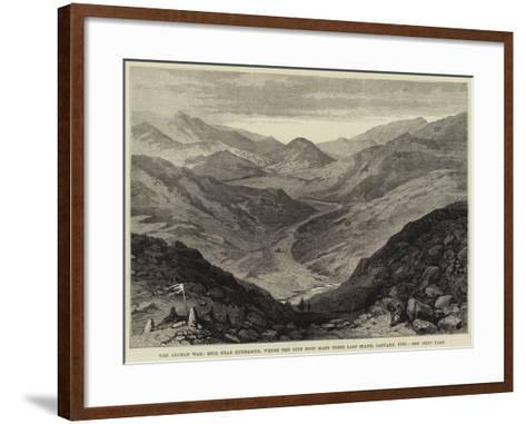 The Afghan War, Hill Near Gundamuk, Where the 44th Foot Made their Last Stand, January 1842--Framed Art Print