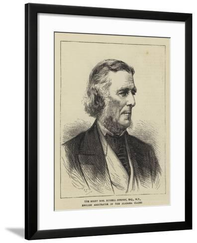 The Right Honourable Russell Gurney, Esquire, Mp, English Arbitrator in the Alabama Claims--Framed Art Print