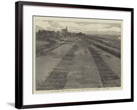 The Volunteer Review, Birds'-Eye View of the Ground, Showing the Disposition of the Forces--Framed Art Print