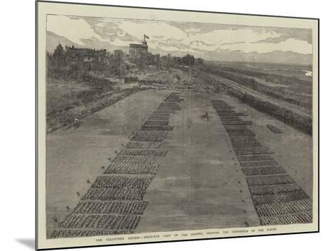 The Volunteer Review, Birds'-Eye View of the Ground, Showing the Disposition of the Forces--Mounted Giclee Print