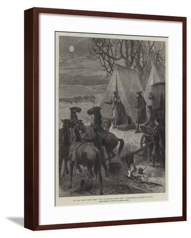 The War, Camp of the Times' and Illustrated London News' Correspondents Attacked by Wolves--Framed Art Print