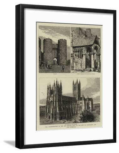 The Enthronisation of the New Primate, Views of the City of Canterbury and the Cathedral--Framed Art Print
