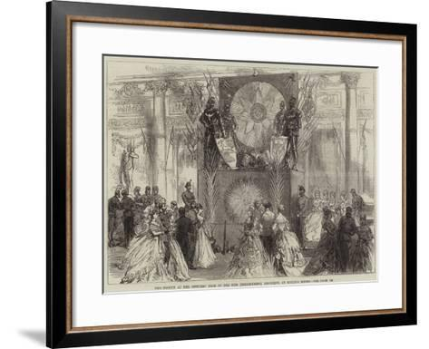 The Trophy at the Officers' Ball of the 27th (Inniskilling) Regiment, at Willis's Rooms--Framed Art Print