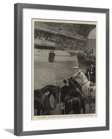 The Horse-Show, the Prince of Wales, the Duke of York and Princess May in the Royal Box--Framed Art Print