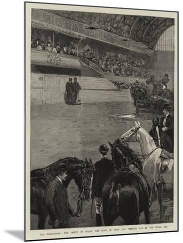 The Horse-Show, the Prince of Wales, the Duke of York and Princess May in the Royal Box--Mounted Giclee Print