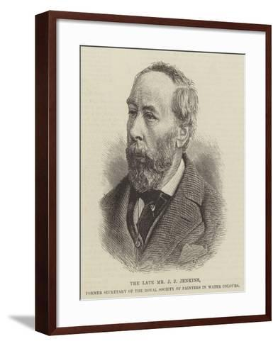 The Late Mr J J Jenkins, Former Secretary of the The Royal Society of Painters in Water Colours--Framed Art Print