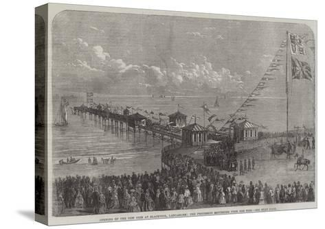 Opening of the New Pier at Blackpool, Lancashire, the Procession Returning from the Pier--Stretched Canvas Print