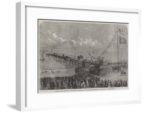 Opening of the New Pier at Blackpool, Lancashire, the Procession Returning from the Pier--Framed Art Print