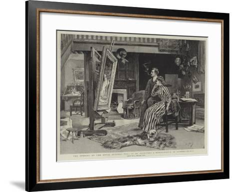 The Opening of the Royal Academy, Will it Be Accepted? a Reminiscence of Sending-In-Day--Framed Art Print
