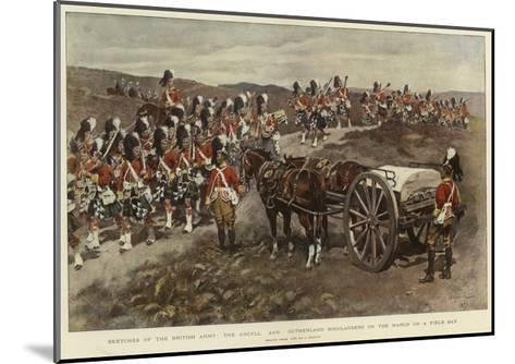 Sketches of the British Army, the Argyll and Sutherland Highlanders on the March on a Field Day--Mounted Giclee Print