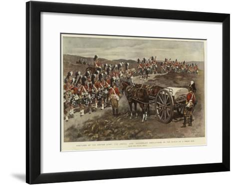 Sketches of the British Army, the Argyll and Sutherland Highlanders on the March on a Field Day--Framed Art Print