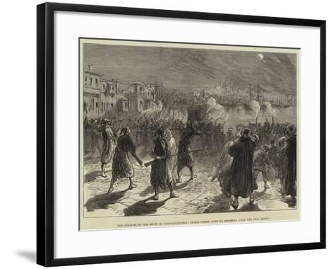 The Eclipse of the Moon in Constantinople, Turks Firing Guns to Frighten Away the Evil Spirit--Framed Art Print