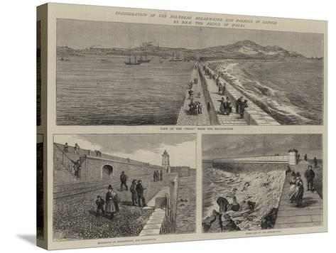 Inauguration of the Holyhead Breakwater and Harbour of Refuge by Hrh the Prince of Wales--Stretched Canvas Print
