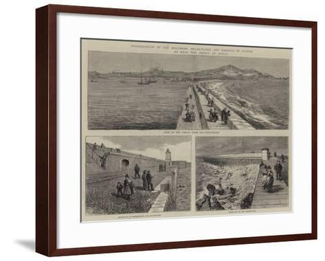Inauguration of the Holyhead Breakwater and Harbour of Refuge by Hrh the Prince of Wales--Framed Art Print