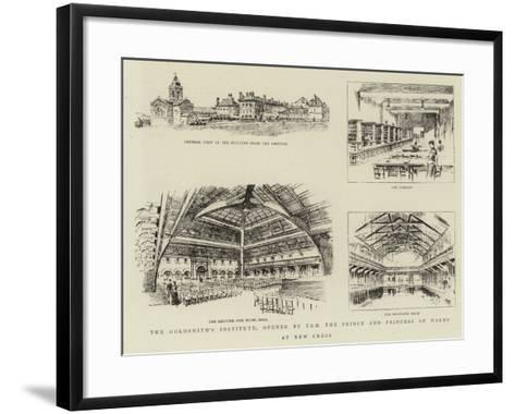 The Goldsmith's Institute, Opened by T R H the Prince and Princess of Wales at New Cross--Framed Art Print