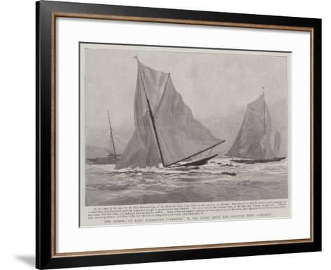 The Sinking of Lord Dunraven's Valkyrie in the Clyde after the Collision with Satanita--Framed Art Print