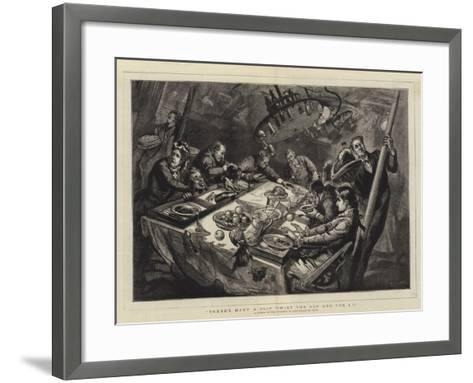 There's Many a Slip Twixt the Cup and the Lip, a Dinner on the Atlantic in Half-A-Gale of Wind--Framed Art Print