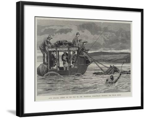 Our Special Artist on His Way to the Transvaal Gold-Fields, Crossing the Wilge River--Framed Art Print