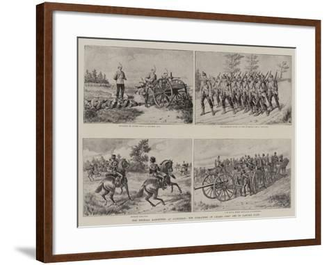 The Military Manoeuvres at Aldershot, the Operations at Caesar's Camp and on Laffan's Plain--Framed Art Print