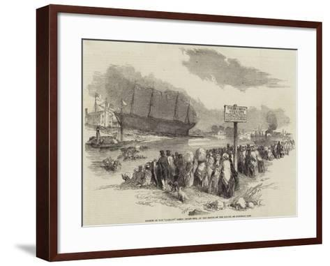 Launch of the Glasgow Screw Steam-Ship, at the Mouth of the Kelvin, on Saturday Last--Framed Art Print