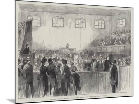 The State of Ireland, the Lord Mayor of Dublin Brought before the Divisional Police Magistrate--Mounted Giclee Print