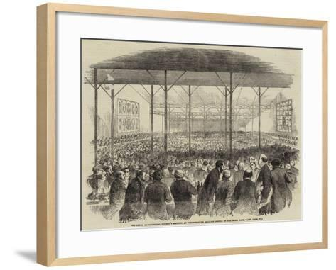 The Royal Agricultural Society's Meeting at Windsor, the Pavilion Dinner in the Home Park--Framed Art Print