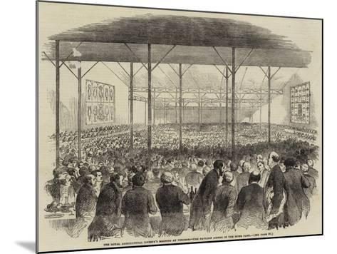 The Royal Agricultural Society's Meeting at Windsor, the Pavilion Dinner in the Home Park--Mounted Giclee Print