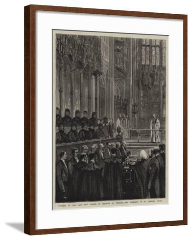 Funeral of the Late King George of Hanover at Windsor, the Ceremony in St George's Chapel--Framed Art Print